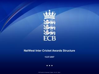 NatWest Entomb Cricket Honors Structure 15.07.2007