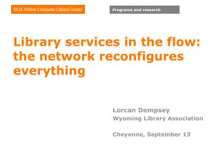 Library administrations in the stream: the system reconfigures everything