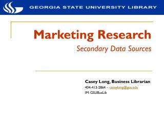Advertising Research Auxiliary Information Sources
