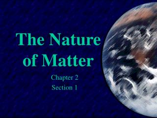 The Way of Matter