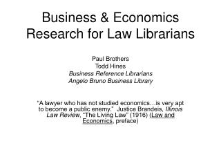 Business and Financial aspects Exploration for Law Curators