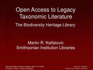 Open Access to Legacy Taxonomic Writing