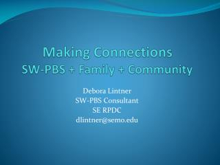 Making Associations SW-PBS Family Group