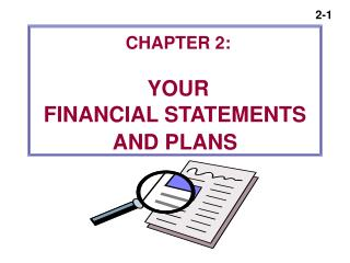 Section 2: YOUR Money related Proclamations AND Arrangements