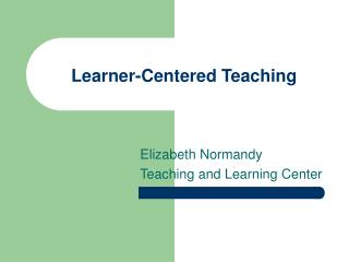 Learner-Focused Instructing