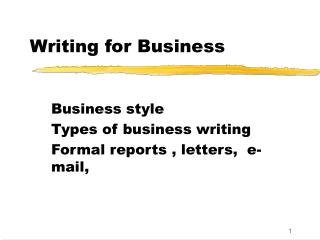 Composing for Business