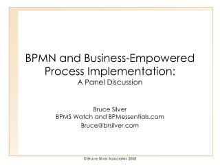 BPMN and Business-Enabled Process Execution: A Board Examination