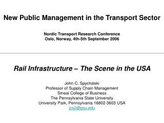 New Open Administration in the Vehicle Part Nordic Transport Research Gathering Oslo, Norway, fourth fifth September 200