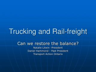 Trucking and Rail-cargo