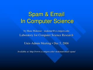 Spam and Email In Software engineering