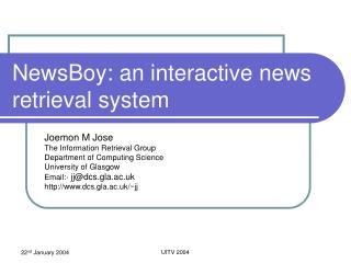 Paperboy: an intelligent news recovery framework