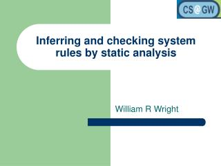 Gathering and checking framework rules by static investigation