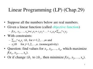 Direct Programming (LP) (Chap.29)