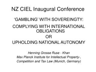 NZ CIEL Inaugural Gathering