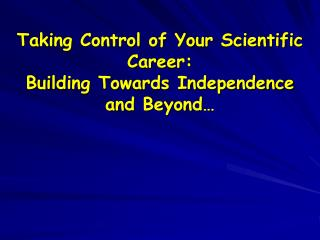 Taking Control of Your Investigative Profession: Building Towards Freedom and Past