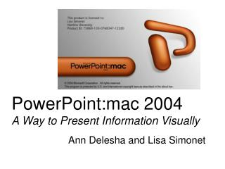 PowerPoint:mac 2004 An Approach to Present Data Outwardly