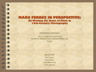 MARC FERREZ IN Context: Re-Composing the Feeling of Spot in nineteenth Century Photography