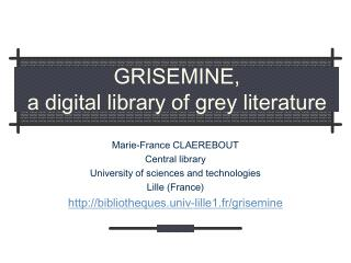 GRISEMINE, a computerized library of dark writing
