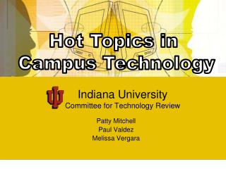 Indiana College Advisory group for Innovation Survey