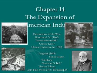 Part 14 The Extension of American Industry