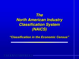 "The North American Industry Grouping Framework (NAICS) ""Arrangement in the Monetary Evaluation"""