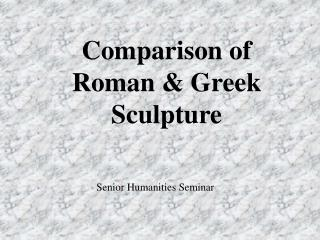 Correlation of Roman and Greek Figure