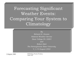 Estimating Huge Climate Occasions: Contrasting Your Framework with Climatology