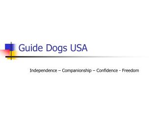 Guide Mutts USA