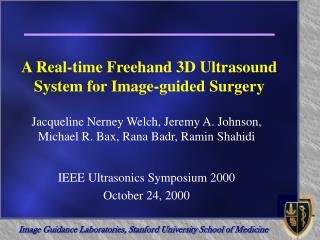 An Ongoing Freehand 3D Ultrasound Framework for Picture guided Surgery