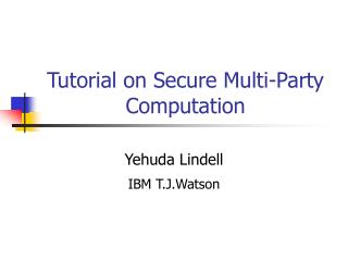 Instructional exercise on Secure Multi-Party Calculation