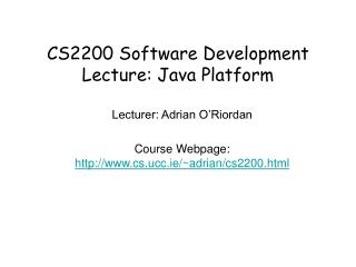 CS2200 Programming Improvement Address: Java Stage