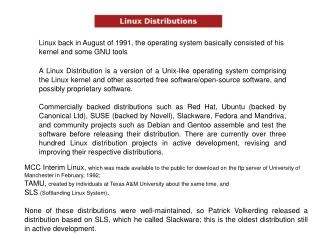 Linux back in August of 1991, the working framework essentially comprised of his part and some GNU apparatuses