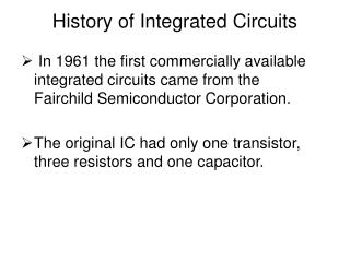 History of Coordinated Circuits