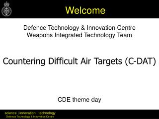 Safeguard Innovation and Development Center Weapons Coordinated Innovation Group CDE topic day