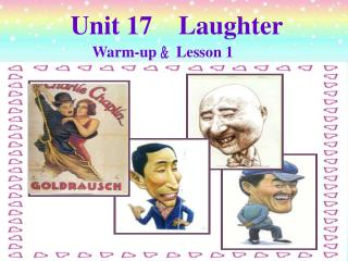 Unit 17 Chuckling Warm-up ?Lesson 1