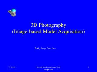 3D Photography (Picture based Model Procurement)
