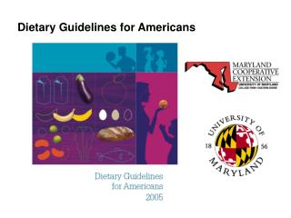 Dietary Rules for Americans