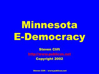 Minnesota E-Majority rule government