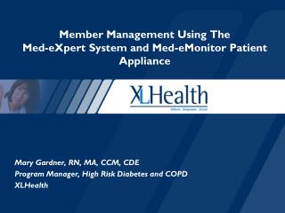 Part Administration Utilizing The Med-Master Framework and Med-eMonitor Persistent Apparatus
