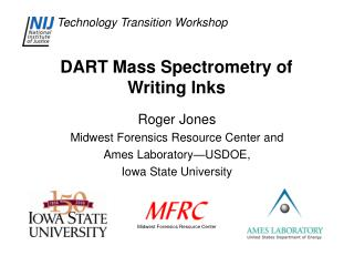 DART Mass Spectrometry of Composing Inks