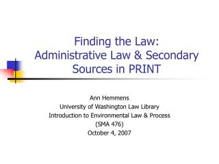 Finding the Law: Managerial Law and Optional Sources in PRINT