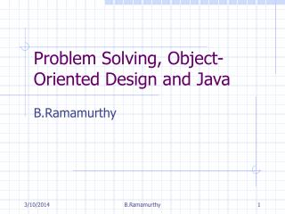 Critical thinking, Object-Arranged Configuration and Java