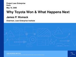 Why Toyota Won and What Happens Next