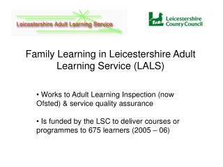Attempts to Grown-up Learning Examination (now Ofsted) and administration quality affirmation