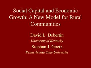 Social Capital and Monetary Development: Another Model for Rustic Groups