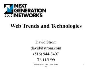 Web Patterns and Innovations