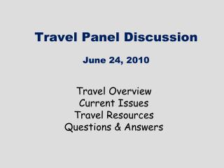 Travel Board Dialog June 24, 2010