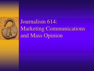 News coverage 614: Promoting Correspondences and Mass Conclusion