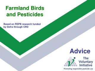 Farmland Winged animals and Pesticides