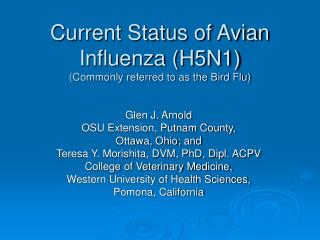 Current Status of Avian Flu (H5N1) (Generally alluded to as the Feathered creature Influenza)